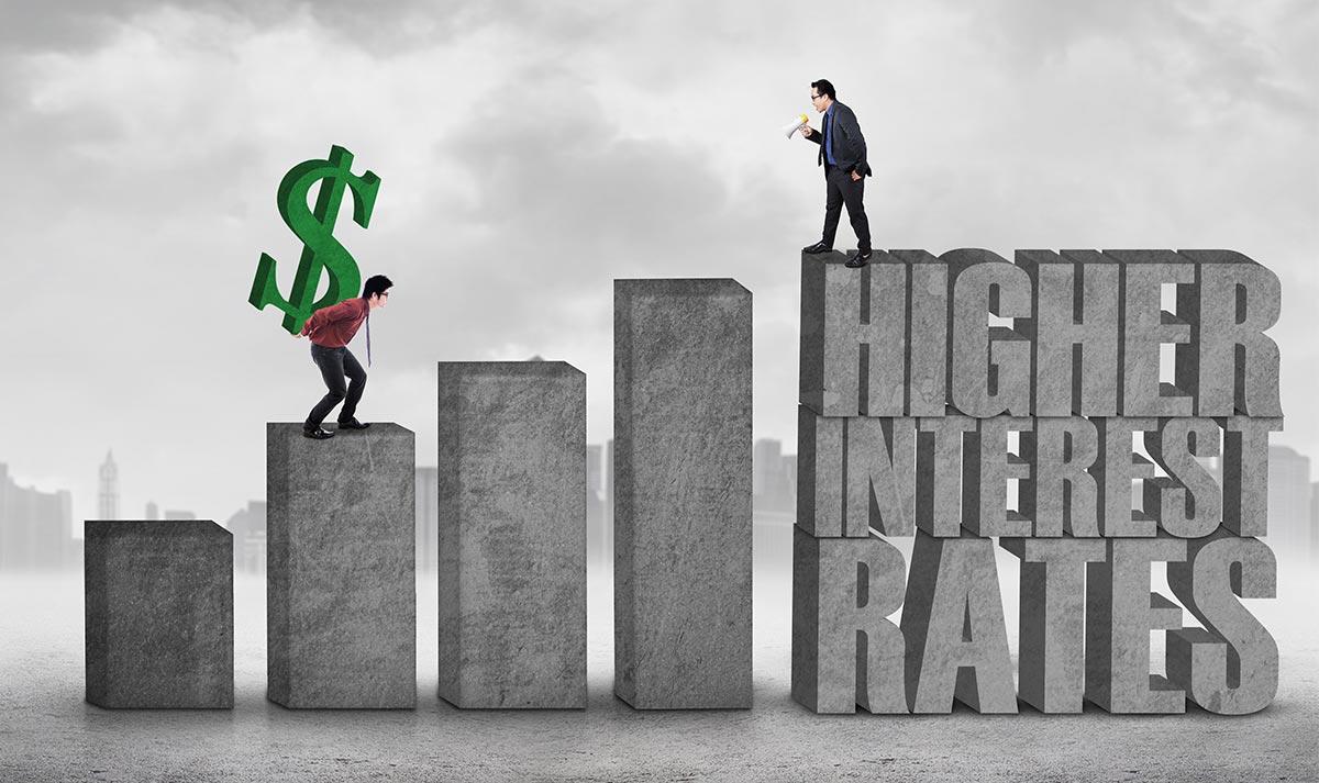 US interest rates climb
